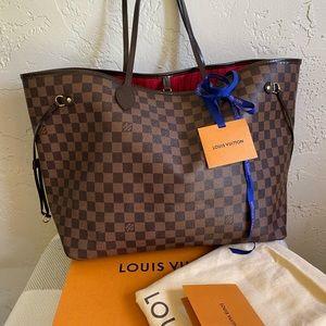 Louis Vuitton never full Damier Ebene gm